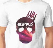 Red Nebula Cranium Design Unisex T-Shirt
