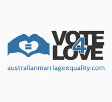 #Vote4Love (Logo) - Tshirts, Hoodies & Kids Clothes by Australian Marriage Equality