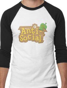 Animal Crossing Anti-Social Men's Baseball ¾ T-Shirt