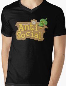 Animal Crossing Anti-Social Mens V-Neck T-Shirt