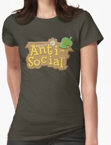 Animal Crossing Anti-Social Womens Fitted T-Shirt