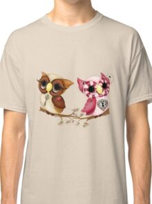 So In Love Hooties - Valentines Owl Art Classic T-Shirt