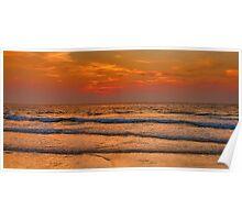 HOPEMAN BEACH FULL MOON SUNSET Poster