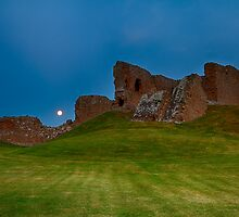DUFFUS CASTLE FULL MOON LANDSCAPE by JASPERIMAGE