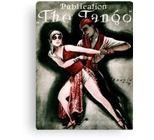 THE TANGO (vintage illustration) Canvas Print