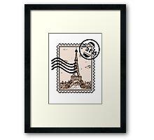 Paris Stamp Framed Print