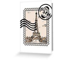 Paris Stamp Greeting Card