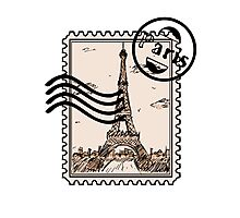 Paris Stamp Photographic Print