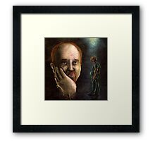 Louis C.K. Dripping Awesome Sauce Framed Print