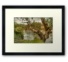 River Bend  Upper Murray - Jingelic NSW - The HDR Experience Framed Print