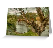 River Bend  Upper Murray - Jingelic NSW - The HDR Experience Greeting Card