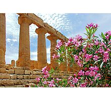 Temple valley Agrigento Sicily Italy Photographic Print