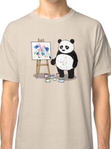 Pandas paint colorful pictures. Classic T-Shirt