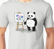 Pandas paint colorful pictures. Unisex T-Shirt