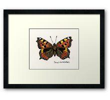 Small tortoiseshell Framed Print
