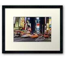 Time Square Trafic Framed Print