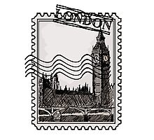 London Post Stamp Photographic Print
