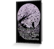 Midwinter Greetings Card - purple variant Greeting Card
