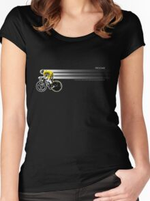 Chris Froome Tour de France 100th Winner 2013 Cycling Team Sky Women's Fitted Scoop T-Shirt