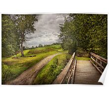 Farm - Landscape - Jersey crops Poster
