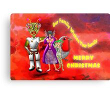 Our Family Wishes Your Family - Merry Christmas Metal Print