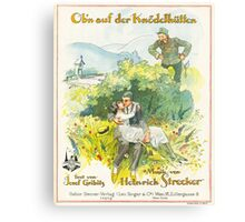 OBN AUF DER KNODELHUTTEN (vintage illustration) Canvas Print