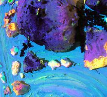 Blue fusion mixed media artwork photo detail by VicCollider