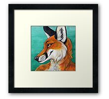 Fox Portrait Framed Print