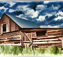 Log Barn by tvlgoddess