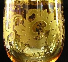 Moser Wine Glass by Baron Guibal J P PhD Dip