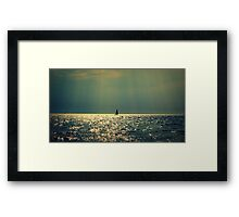 sailing on a sea of gold Framed Print