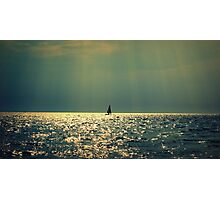 sailing on a sea of gold Photographic Print