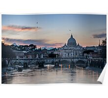 Sunset on Vatican City Poster
