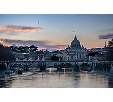 Sunset on Vatican City Photographic Print