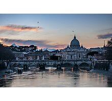 Sunset on Vatican City Photographic Print