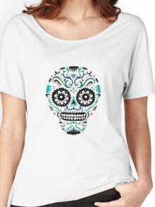 Sugar Skull SF multi om white Women's Relaxed Fit T-Shirt