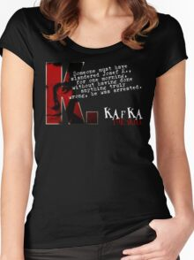 The Trial inspired Franz Kafka Tee Women's Fitted Scoop T-Shirt