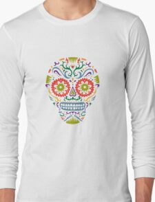 Sugar Skull SF multi 2 - on white T-Shirt