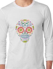 Sugar Skull SF multi 2 - on white Long Sleeve T-Shirt