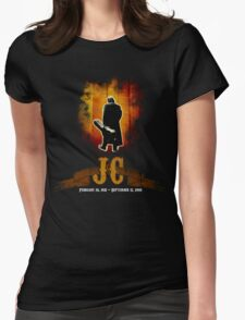 The Man In Black - Johnny Cash Womens Fitted T-Shirt