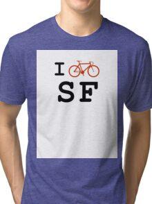 "I ""ride"" San Francisco Tri-blend T-Shirt"