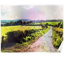 Scottish Country Lane Poster