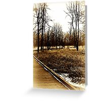 Washougal Walking Bridge in Sepia Greeting Card