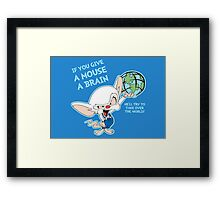 Give a Mouse a Brain Framed Print
