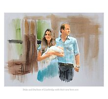 Duke and Duchess of Cambridge with their new born son by Lightrace