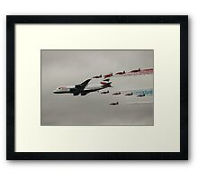 British Airways and the Red Arrows Framed Print