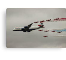 British Airways and the Red Arrows Canvas Print