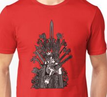 Kingdom Hearts: Game of Hearts blk+wht Unisex T-Shirt