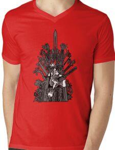 Kingdom Hearts: Game of Hearts blk+wht Mens V-Neck T-Shirt