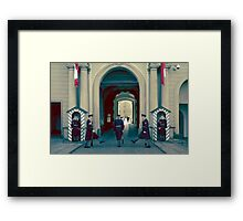 Changing of the Guard, Prague Castle Framed Print